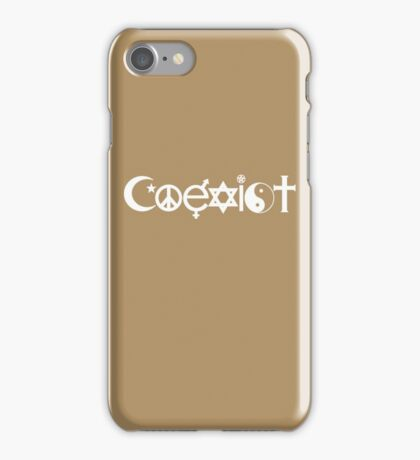 Coexist White iPhone Case/Skin