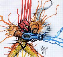 Metroid: Samus Aran by chrispanila