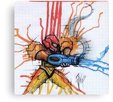 Metroid: Samus Aran Canvas Print