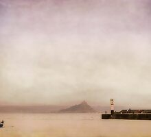 Penzance harbour in pastel by Lissywitch