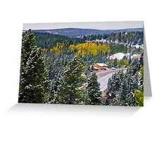 The Fall Mountain Road Greeting Card