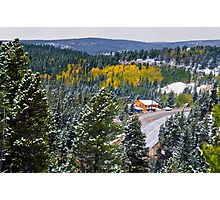 The Fall Mountain Road Photographic Print