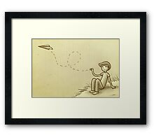 Paperplane Framed Print