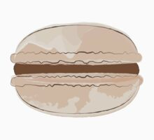 Watercolor Food Sticker - Chocolate Macaron by StickerStore