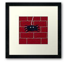 Spider Hanging Around Framed Print