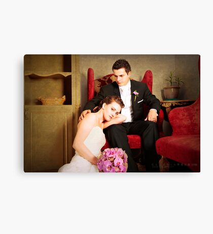 gorgeous bride and groom  Canvas Print