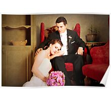 gorgeous bride and groom  Poster