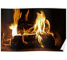 Cozy Fire on a Winter Day 2 Poster
