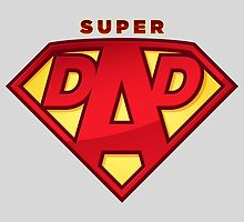 "Happy Father's Day celebrations concept ""SUPERDAD"" logo by Marshalgon"