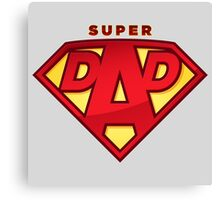"Happy Father's Day celebrations concept ""SUPERDAD"" logo Canvas Print"