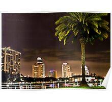 St. Petersburg Night Lights Poster