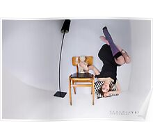 girl up side down  optical illussions Poster