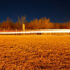 Fen road at night by Ecohippy