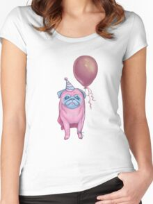 Party pug Women's Fitted Scoop T-Shirt