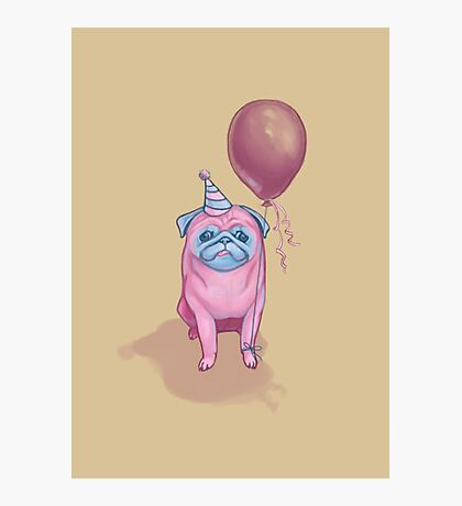 Party pug Photographic Print