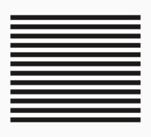 Horizontal Black and White Stripe Bedspread Duvet Cover Pillow Kids Tee