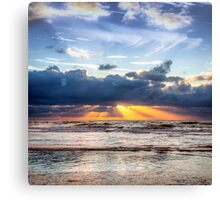 Beautiful Dutch Summer Sunset Canvas Print