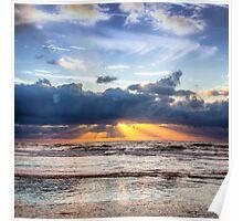 Beautiful Dutch Summer Sunset Poster