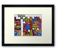 Life as Tetris Framed Print