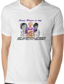 James Bourne Is My Superhero Mens V-Neck T-Shirt