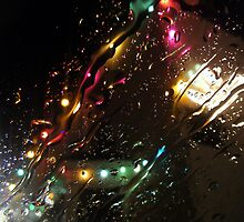 Christmas Lights Under Raindrops by SophieSimone