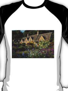 Ancient Cotswold Cottages at Bibury. T-Shirt