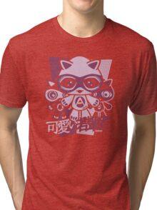 Adorable Mascot Stencil Tri-blend T-Shirt