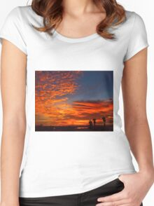 November Sunset Women's Fitted Scoop T-Shirt