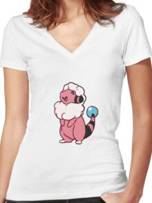 Flaaffy Women's Fitted V-Neck T-Shirt
