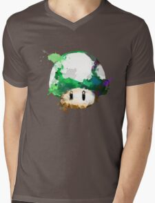 Watercolor 1-Up Mushroom Mens V-Neck T-Shirt