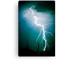 Lightning Strike Too Close Canvas Print
