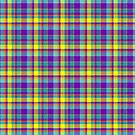 Purple, Yellow, Blue, and Pink Plaid by Pamela Maxwell