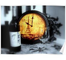 Wine by the Tour Eiffel ~  Eiffel Tower Poster