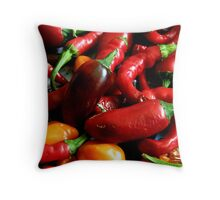 Drying Chillies Throw Pillow