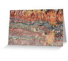 Fossilized Stromatolites Greeting Card