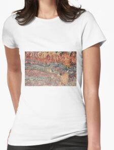Fossilized Stromatolites Womens Fitted T-Shirt