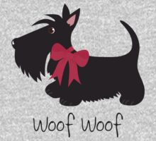 Woof Woof Scottie Dog T-Shirt