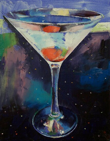 Bombay Sapphire Martini by Michael Creese