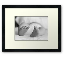 precious toes Framed Print