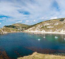 Lulworth Cove Panorama by tmhphoto