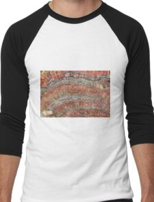 Fossilized Stromatolites Men's Baseball ¾ T-Shirt