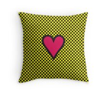 HEART ON THE CHESSBOARD Throw Pillow