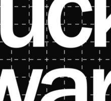 Fuck War Sticker