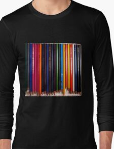 crayons of many colors Long Sleeve T-Shirt