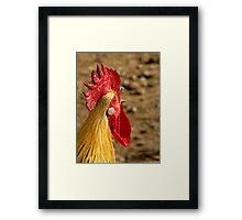 """""""Cocka-doodle-doo"""" Framed Print"""