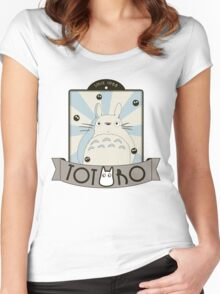 Vintage Totoro Women's Fitted Scoop T-Shirt