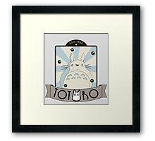 Vintage Totoro Framed Print