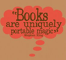 Stephen King Reading Quote by geekchicprints