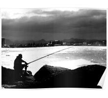 Lone Fisherman. Poster
