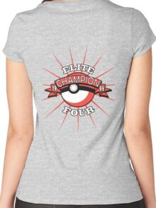 Elite Four Champion Red Women's Fitted Scoop T-Shirt
